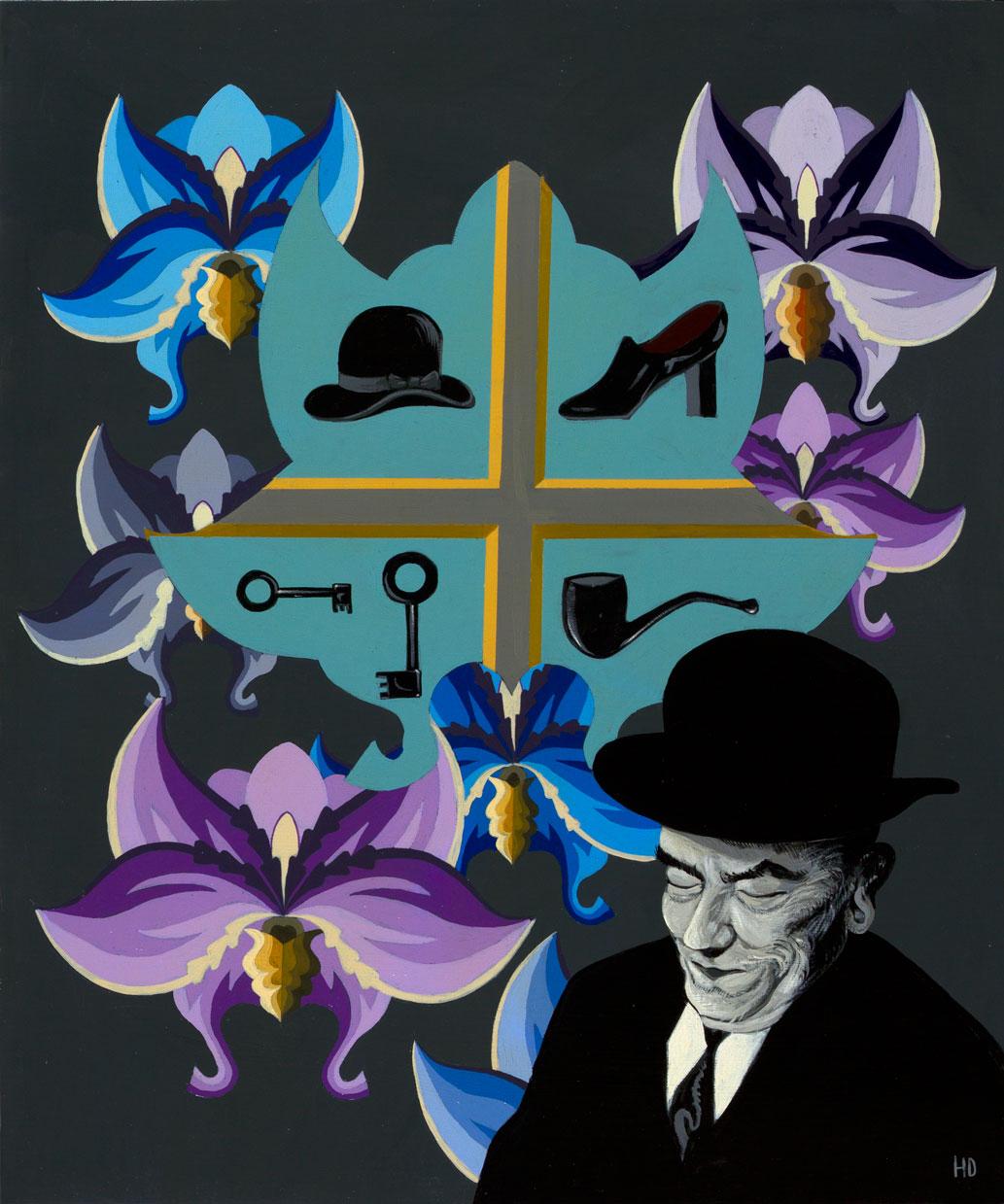 Hommage à Magritte 30 x 36